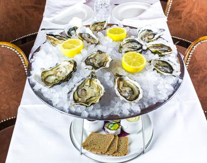 Les huîtres, une spécialité de la Brasserie les Beaux-Arts